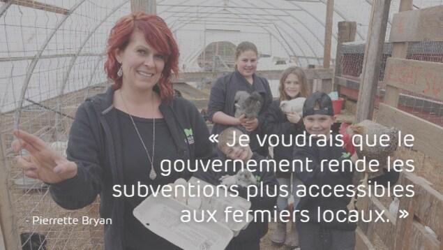 Pierrette Bryan : «Je voudrais que le gouvernement rende les subventions plus accessibles aux fermiers locaux.»