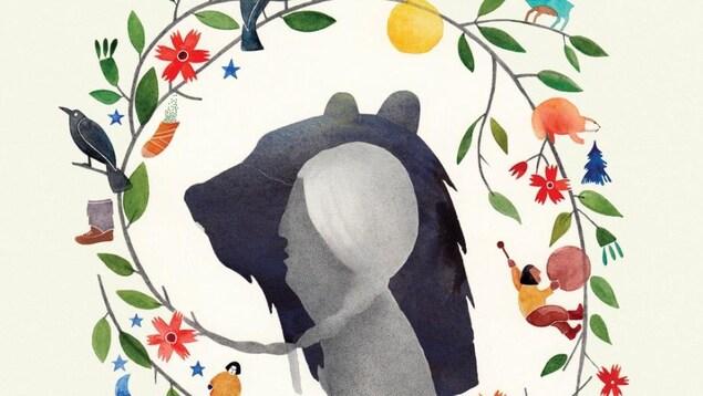 La jaquette du livre La Légende de Carcajou de Renée Robitaille et Slavka Kolesar