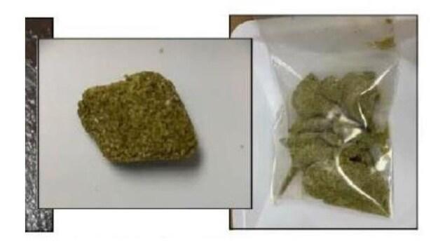 Un produit ressemblant à du cannabis.