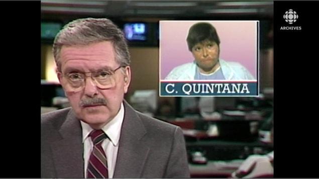 Animateur avec mortaise qui montre le visage de Carmen Quintana.