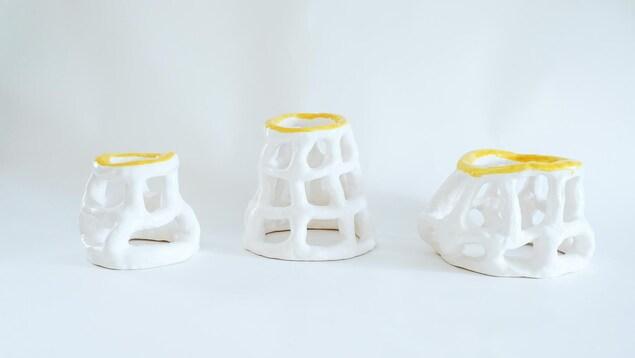 Une oeuvre plastique de Carol-Ann Belzil-Normand présentée à Caravansérail dans le cadre de son exposition « Vanités et interfaces ».