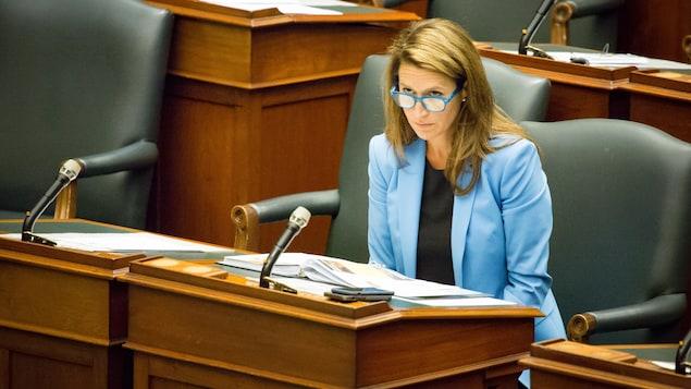 Le portrait d'une femme au Parlement