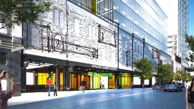Le scénario qui semble faire consensus intégrerait les morceaux des façades historiques qui s'y trouvaient à une certaine époque. Mais des ajouts contemporains, comme de larges fenêtres, viendraient s'ajouter au concept.