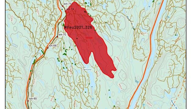 Une carte du secteur Chute-des-Passes.