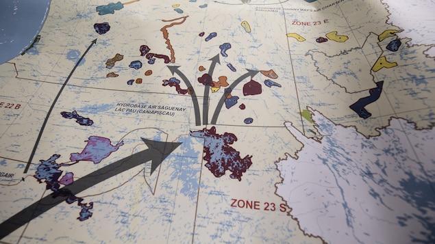 Carte des hydrobases du Québec