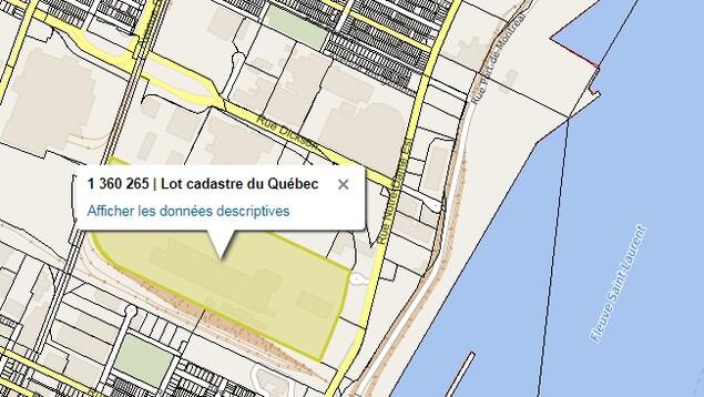 Carte montrant l'endroit où se trouve le terrain