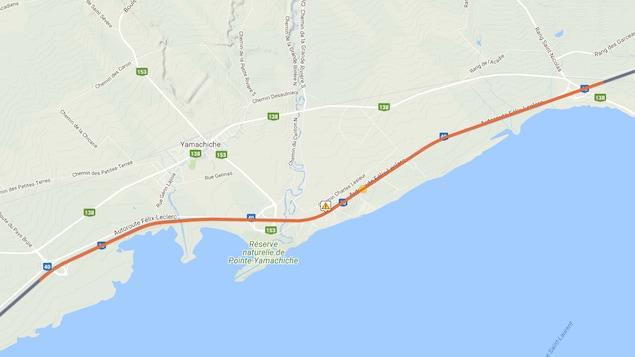 L'autoroute 40 fermée à Yamachiche — Brouillard et collisions