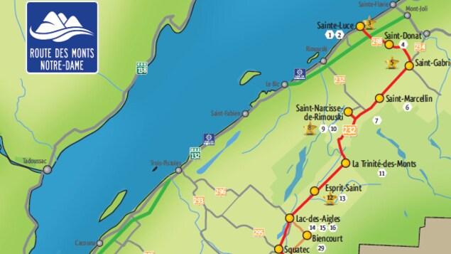 La route des Monts Notre-Dame a été inaugurée en 2016 et relie Sainte-Luce à Saint-Jean-de-la-Lande, en passant par Esprit-Saint.
