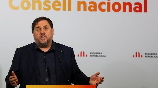 Le vice-président catalan Oriol Junqueras veut absolument discuter d'indépendance avec Madrid.