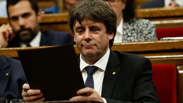Le président indépendantiste catalan Carles Puigdemont