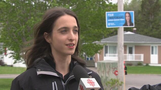 La candidate du Bloc québécois dans Chicoutimi-Le Fjord, Catherine Bouchard-Tremblay