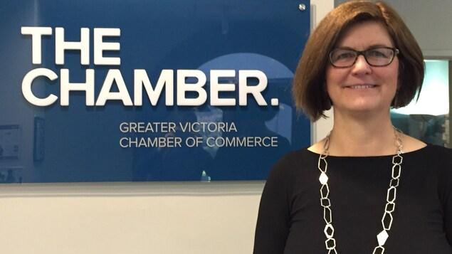 Catherine Holt, directrice générale de la Chambre de commerce du Grand Victoria.