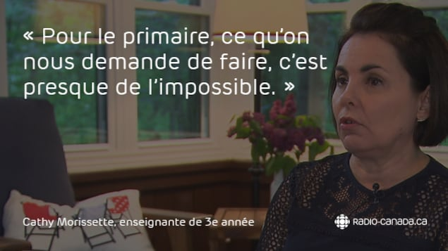 Cathy Morissette, enseignante de 3e année du primaire à l'école Sacré-Coeur de Trois-Rivières.