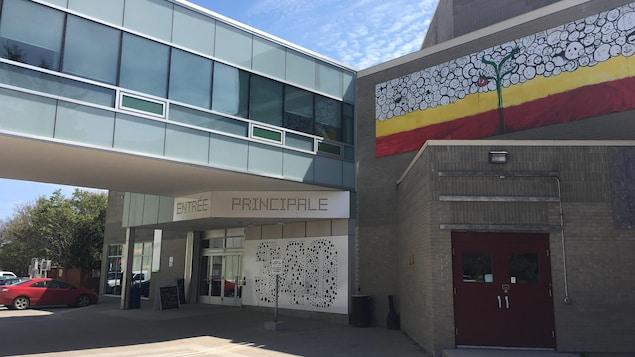 L'entrée principale du Centre culturel franco-manitobain
