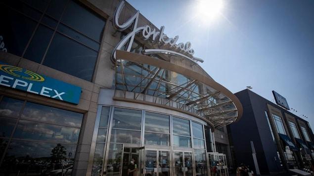 La façade du centre commercial