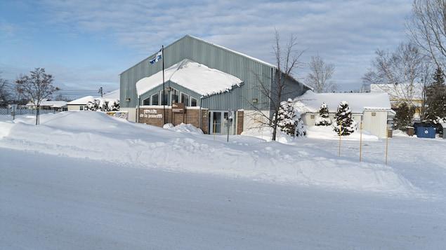 L'extérieur de l'actuel centre communautaire de Sainte-Blandine.