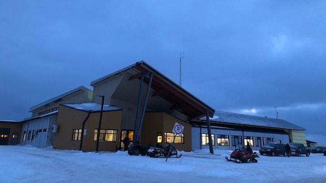 Le bâtiment du centre de santé.