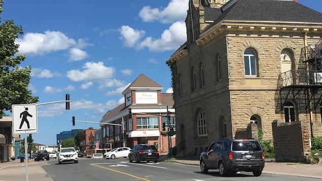 Centre-ville de Bathurst, au Nouveau-Brunswick.
