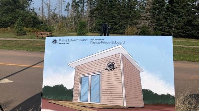 Un dessin de la version préliminaire d'un des logements.