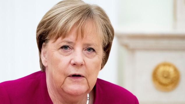 La chancelière allemande, Angela Merkel, à Moscou le 11 janvier 2020.
