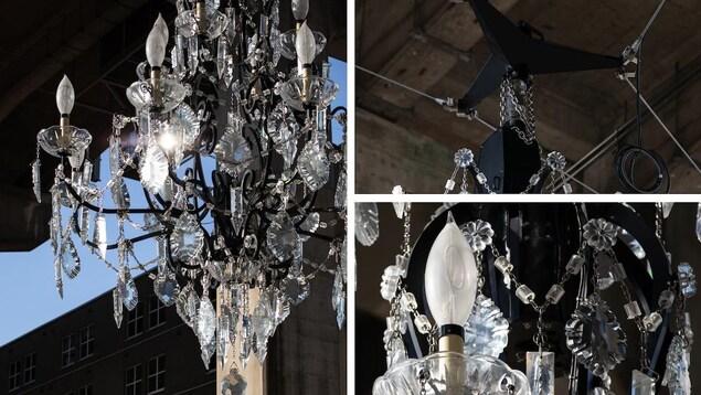 Un chandelier sous le pont Granville, à Vancouver.