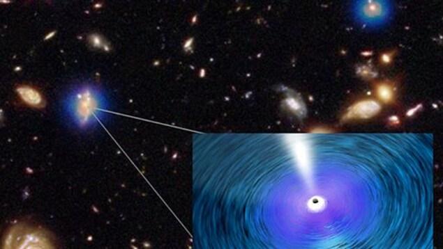 Illustration d'un trou noir supermassif.