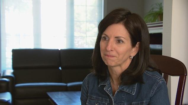 Chantal Belley en entrevue avec la journaliste Alexandra Duval de Radio-Canada.