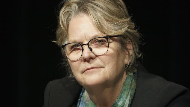 Gros plan de la ministre responsable de la Métropole, Chantal Rouleau.