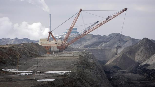 Mine de charbon au sud d'Estevan en mars 2008