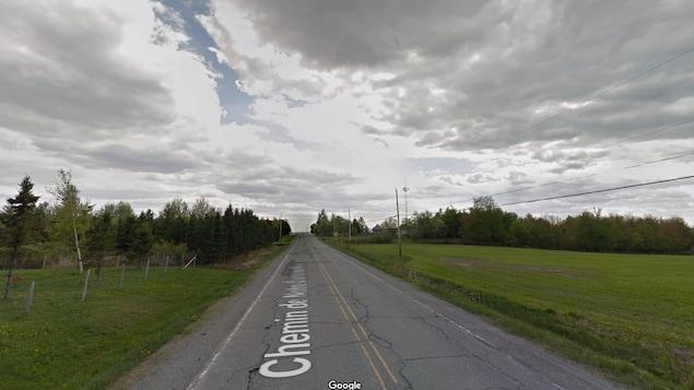 Une photo de la pire route de l'Estrie