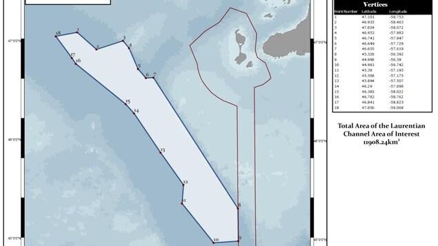 Carte de la zone de protection marine du chenal Laurentien