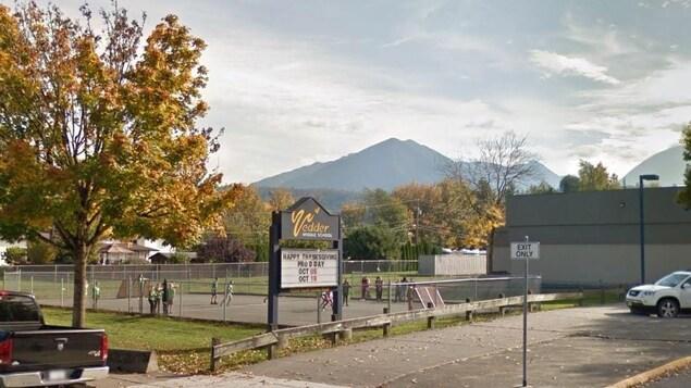 Une cours d'école en Colombie-Britannique.
