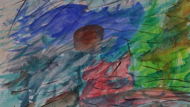 Le dessin  Tempête à l'île verte , de Chloé Sainte-Marie