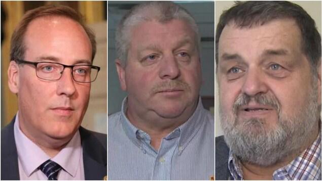 Chris d'Entremont, Eddie Orrell et Alfie MacLeod.