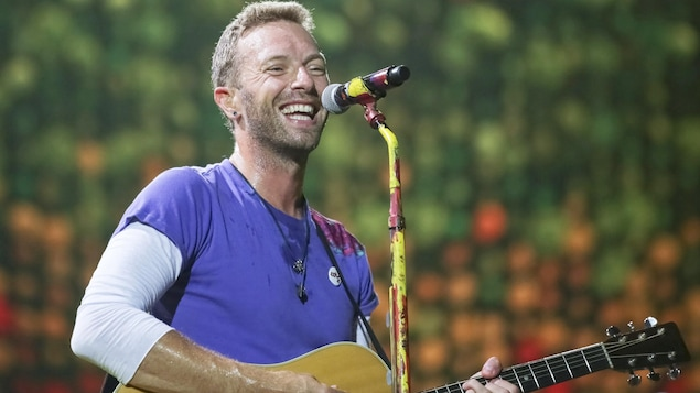 Chris Martin, de Coldplay, en concert au FedEx Field de Landover (Maryland), le 6 août 2017.