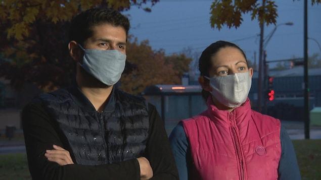 Christian Osorio, 35 ans, et sa conjointe Ivonne Sandoval, 37 ans, sont arrivés au Québec en janvier 2020.