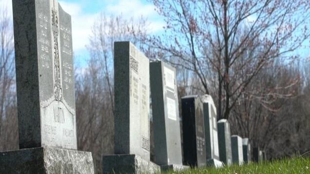 Des pierres tombales alignées