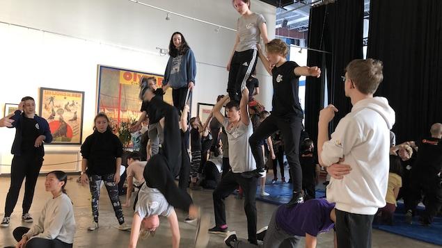 Une répétition de cirque