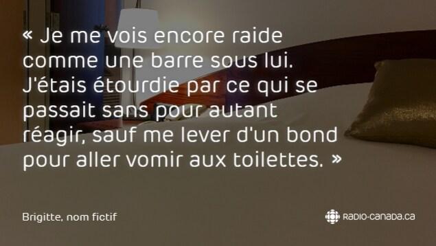 Brigitte a transmis une lettre à Radio-Canada dans laquelle elle raconte son histoire.