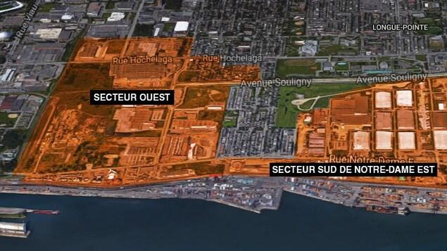 Une carte du secteur.