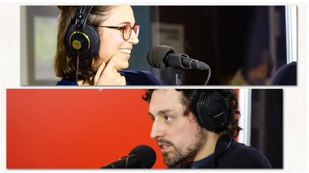 Clara Lagacé et Frédérick Lavoie ont écrit 300 mots en 60 minutes pour l'émission Sur le vif.
