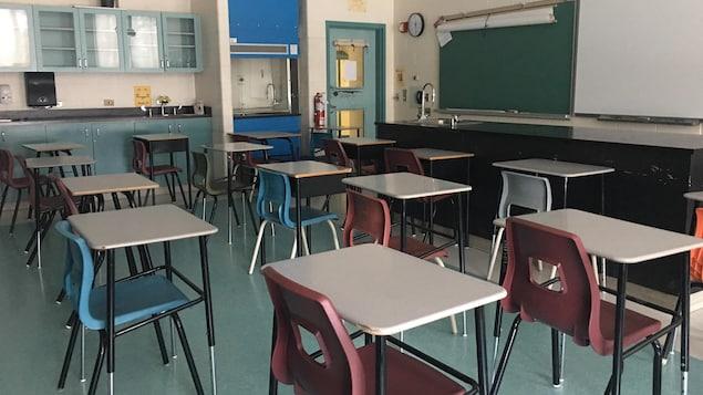 Une classe vide.