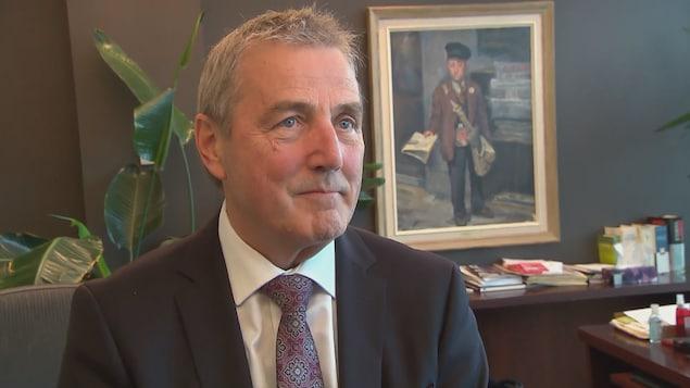 Claude Gagnon, PDG du Groupe Capitales Médias, lors d'une entrevue dans son bureau à Québec