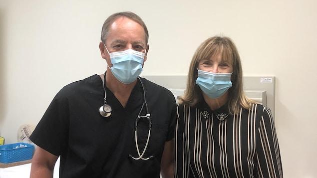 Dr René Therrien et Dre Andrée Vachon, côte à côte.