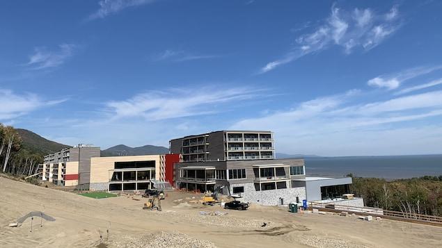 Le Club Med Québec Charlevoix en construction