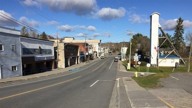 Le centre-ville de Cobalt, en Ontario.