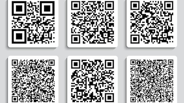 Montage de plusieurs codes QR.