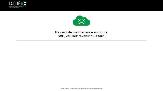 Une image d'erreur sur un site web.