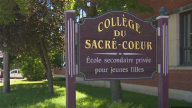 Le Collège du Sacré-Coeur de Sherbrooke, réservées aux filles, acceptera des élèves masculins dès septembre 2019.