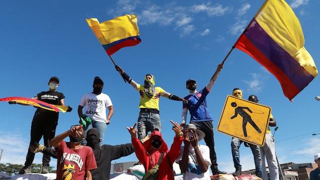 Des manifestants en Colombie.